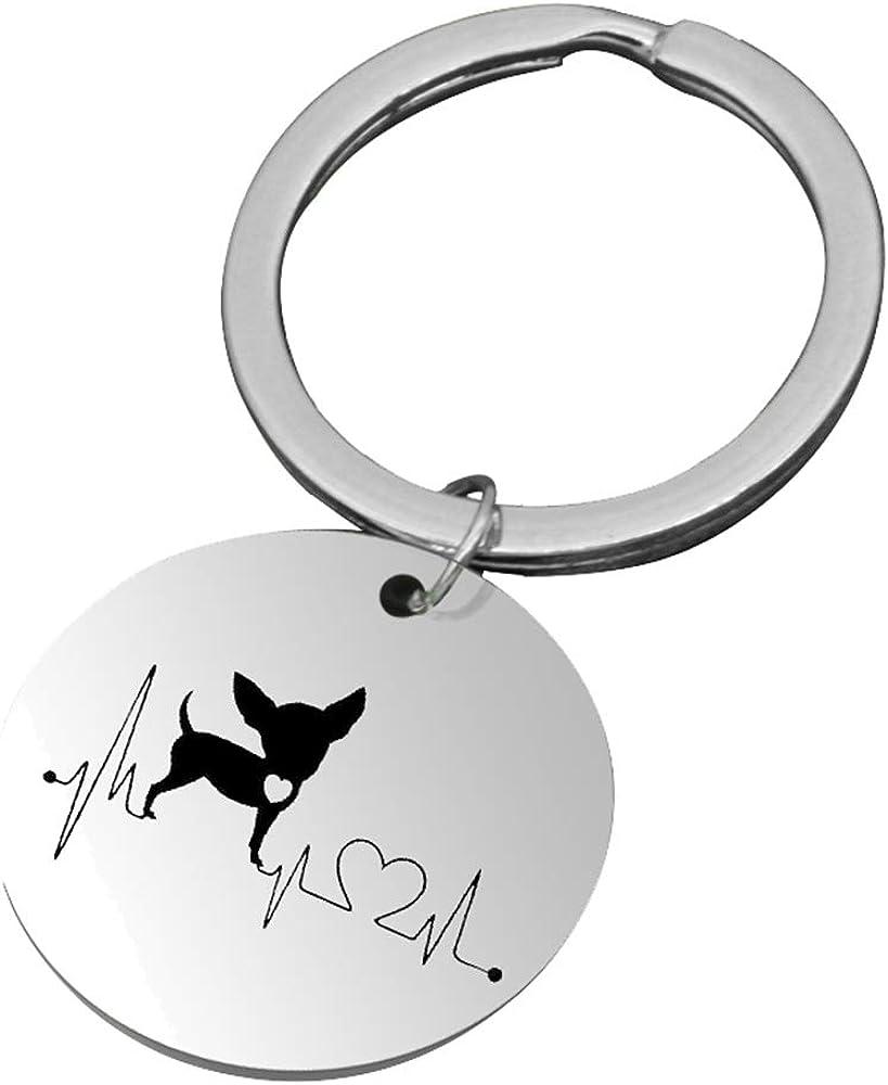 Super-cheap Jinleansu Dog Heartbeat Necklace Cute Ter Dachshund Bull Bulldog Max 79% OFF