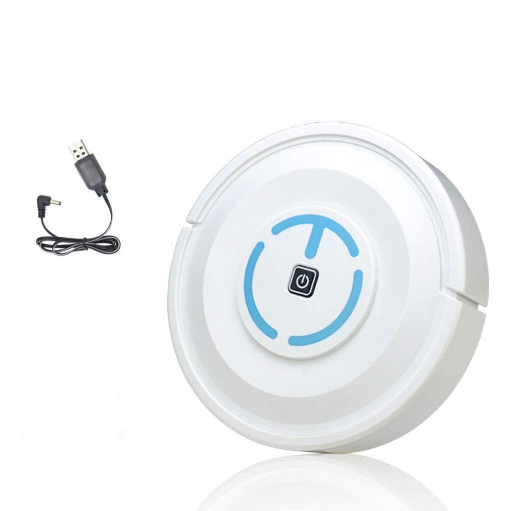 HUOLEO Carga USB Inteligente Robot Aspirador, Barredora Electrico Trapeador Robots Aspiradores por Hogar Regalo-Carga Blanca: Amazon.es: Hogar