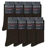 Bärenfuß Herren & Damen Premium Socken - 8 Paar ohne spürbare Naht oder Fusseln (Braun, 43-46)