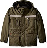 Caterpillar Men's Heavy Insulated Parka (Regular and Big & Tall Sizes), Army Moss, Small