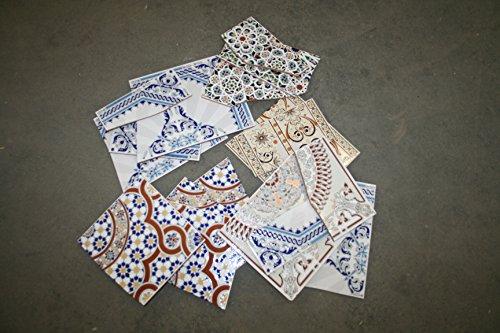10 Kg Bruchfliesen Keramikfliesen orientalische Fliesen