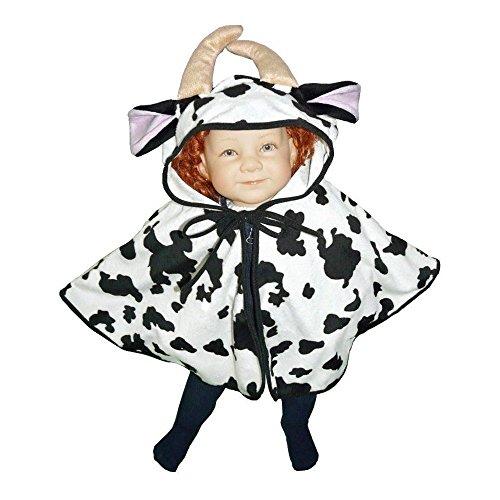 Seruna Disfraz de vaca J55, talla 74-98, para nios pequeos, para carnaval, regalo de cumpleaos