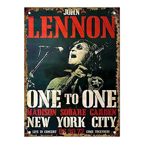 John Lennon Madison Square Garden Vintage Metal Vintage Metal Vintage Metallblechschild Wand Eisen Malerei Plaque Poster Warnschild Cafe Bar Pub Bier Club Dekoration