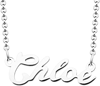 LoEnMe Jewelry A Name Necklace of Custom Made Sterling Silver Personalized Gift for Women Girls Couple