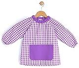 BeBright Bata Escolar Infantil, Baby Escolar Niña y Niño, Babi para Colegio y Guarderías- Fabricado en España (Lila, 2-3 años)