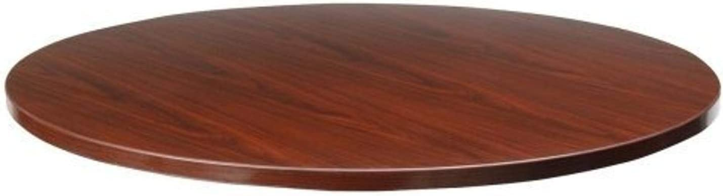 Lorell Round Tabletop Free Shipping Cheap Bargain Gift Mahogany 42-Inch Store