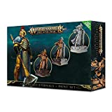 Games Workshop 99170218003 - Stormcast Eternals + Paint set - Warhammer Age of Sigmar - 3 Figuras (Sequitors) + 6 Pinturas diferentes y un Pincel (Set de Pinturas para las Miniaturas)