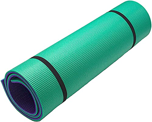 TIENDA EURASIA Esterilla Antideslizante para Realizar Deporte - Esterilla Yoga Bicolor 50-75 x 165 cm - Ideal para Yoga, Pilates ... (50 x 165 x 1 cm)