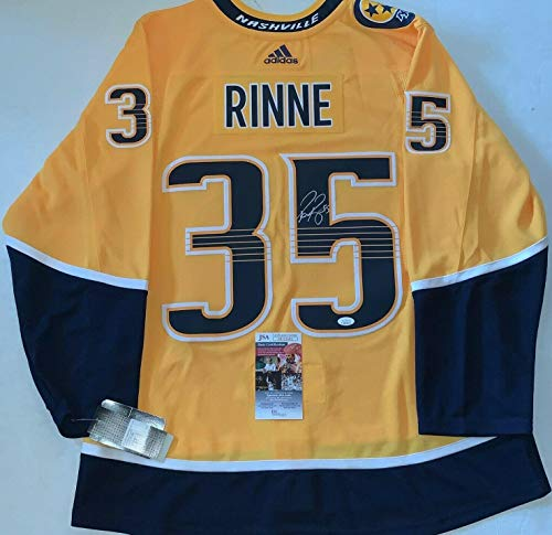 Pekka Rinne signed Nashville Predators Adidas Authentic Adizero jersey Preds JSA - Autographed NHL Jerseys
