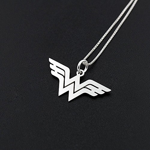 Wonder Woman Box Chain Necklace Handmade Dainty Delicate necklace sterling silver Wonder Woman symbol - super hero - gift for women - girl jewelry - strong woman amazing mom gift Diana Prince symbol