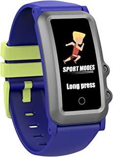 AUPALLA Pulsera de Actividad Niños, Reloj Inteligente niña Fitness Tracker con Podómetro, Pulsómetros, Monitor de Sueño, Contador de Caloría, 4 Modos Deportivos Smartwatch para Niñas y Niños