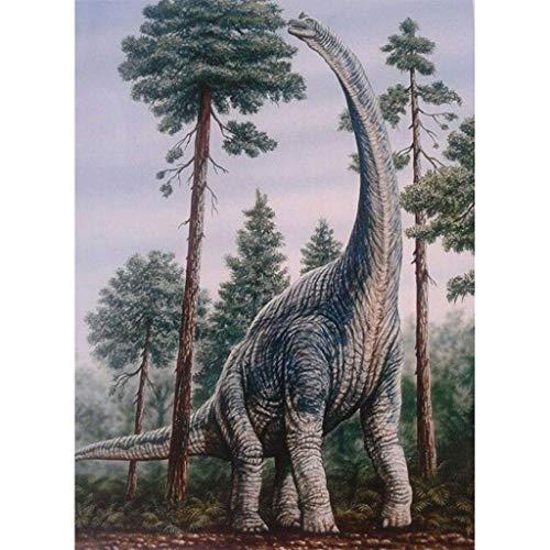 yuyuanDO Serie De Dinosaure Peinture en Diamant 5D DIY Peinture par numéros Point de Croix en Résine Décoration de Maison Salon Chambre DIY Kits de Broderie au Point de Croix Déco Murale(30x40cm) (B)