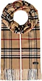 FRAAS Cashmink® Schal kariert für Damen & Herren - 35 x 200 cm - Made in Germany - Warmer XXL-Schal - Plaid Schal weicher als Kaschmir - Perfekt für den Winter Camel