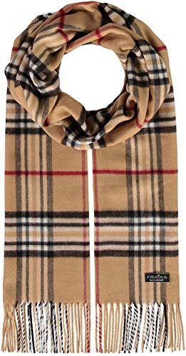 FRAAS Schal aus reinem Cashmink für Damen & Herren - Made in Germany - XXL-Schal - The Plaid - weicher als Kaschmir - Perfekt für den Winter Camel
