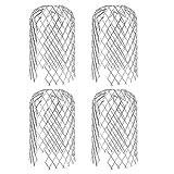 QLOUNI 4pcs Filtros de Canaletas de Mallas Protectores de Metal Hojas para Canalón de Colador de Diámetro de 8cm