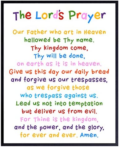 Lords Prayer Wall Art Religious Bible Study Scripture Decor for Church Sunday School Classroom product image