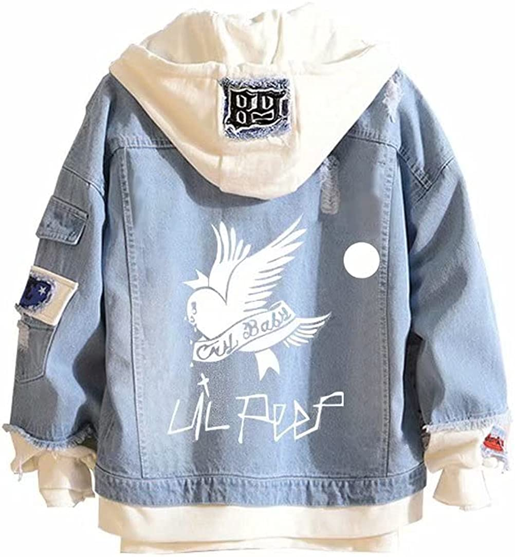 Rapper Lil Peep Denim Jackets Jeans Hip Hop Hoodie Coat