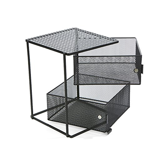 Mind Reader Storage - Estante magnético (2 unidades), color negro