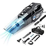 Best Car Vacuums - VARSK 4-in-1 Car Vacuum Cleaner, Tire Inflator Portable Review