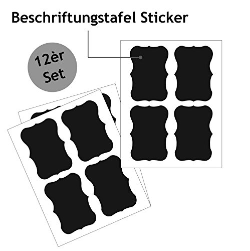 Wagners Tafelfolien-Sticker-Aufkleber-Etiketten selbstklebend und Wiederverwendbare