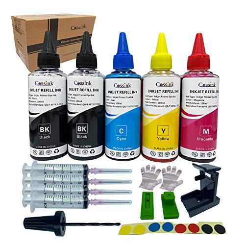 Cossink Kit de recambio de tinta de 500 ml compatible con cartuchos de tinta HP 307XL 305XL 304XL 303XL 302XL 301XL 307 305 304 303 302 301