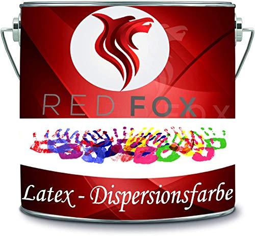 RED FOX Dispersionsfarbe strapazierfähige Latexfarbe Wandfarbe in vielen Premium Farben (2 l, Mint)