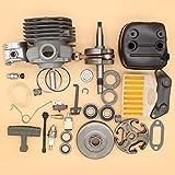 50mm Nikasil Cilindro Pistone Silenziatore Albero Motore Frizione Grande Foro Engin kit Per HUSQVARNA 365 371 372 372XP Motosega