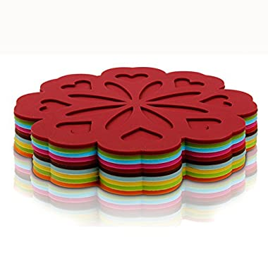 Karmax Multifunction Silicone Hot Pads (6pcs) for Cooking, Baking, BBQ (Assorted)