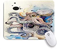 ECOMAOMI 可愛いマウスパッド タコの水彩画 滑り止めゴムバッキングマウスパッドノートブックコンピュータマウスマット