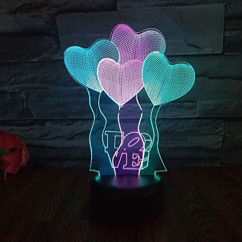 Gepersonaliseerde jongens nachtlampje voor kinderen/baby - kerstcadeaus voor kinderen - 7 kleuren en een kleur veranderende instelling liefde ballon atmosfeer Gift Lights