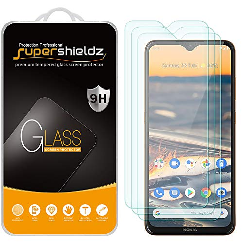 (3 Pack) Supershieldz for Nokia 5.3 Tempered Glass Screen Protector, Anti Scratch, Bubble Free Florida
