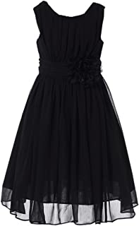 cf521eaea563 Bow Dream Junior Bridesmaids Little Girls Elegant Ruffle Chiffon Summer  Flowers Girls Dresses