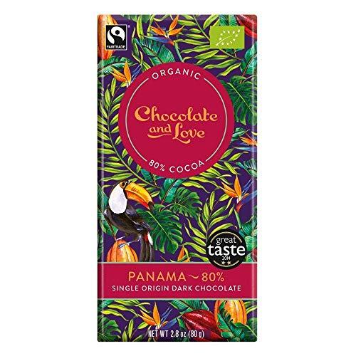 CHOCOLATE AND LOVE | Panama 80% Chocolate Bar | 9 x 80g (DE)