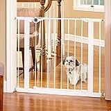 Toddleroo by North States MyPet 38.1'' Wide Essential Walk Thru Gate: Ideal for securing hallways or doorways. Extra Wide Doorway. Pressure Mount. Fits 29.8''-38.1'' Wide (30'' Tall, White)'