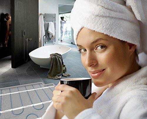 Nexans Elektrische vloerverwarming millimat/100 N-HEAT ® met thermostaat CDFR-003, vierkante meter en watt: 1,0 m2 100 W