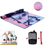 "Getfitsoo Yoga Mate Perfect Yoga Towel Mat | 72"" x 24"" Perfect Size"