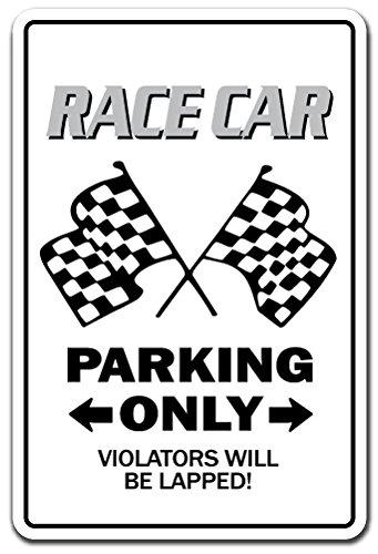 Race CAR Aluminum Sign Racing Drag Strip Midget auto nascar Driver Track | Indoor/Outdoor | 14' Tall