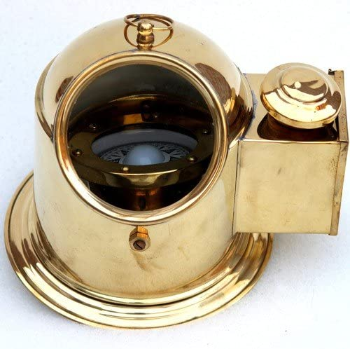 Antique House Solid Brass Cheap mail order shopping Hanging Boat Compass Nau with lamp Oil Max 87% OFF
