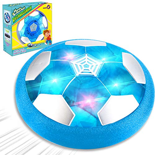 Camlinbo Kids Toys Rechargeable Hover Soccer Ball Air Floating Soccer Gifts for Boys Girls Age 316 LED Light Toy Foam Bumper Indoor Outdoor Sports Game Football Prize Holiday Easter Gifts for Kids
