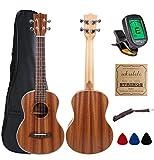 Kulana Deluxe Tenor Ukulele, Mahogany Wood with Binding and Aquila Strings + Gig Bag