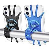 Bike Phone Mount, 2 Pack Universal Motorcycle Phone Mount , 360° Adjustable Bike Phone Holder, for iPhone 7/8/X/11/12/Pro/Plus, Galaxy, Google Pixel, Nubia, LG