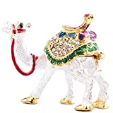 YU FENG Cute Camel Decor Figurines Collectible,Hinged Camel Animal Trinket Jewelry Box