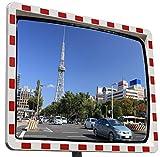 Miroir de circulation professionnel avec réflecteurs - Miroir convexe - 40 x 60 cm