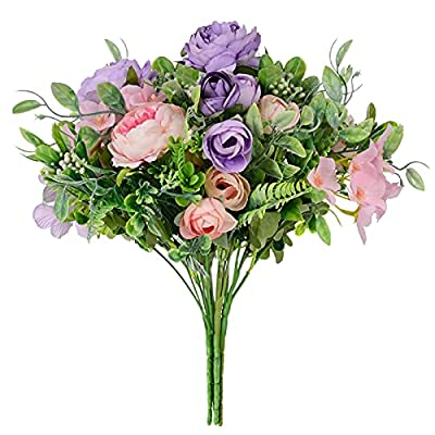 Artificial Fake Flowers Peony Rose for Decorati...
