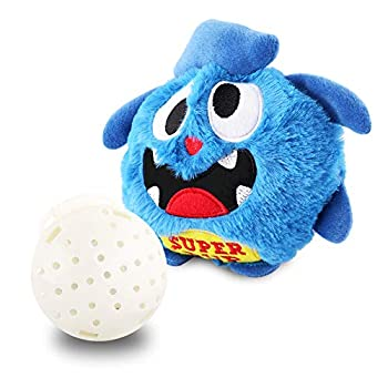 Petbobi Upgrade Dog Toys Interactive Monster Plush Giggle Ball Shake Squeak Crazy Bouncer Toy Exercise Electronic Toy for Puppy Motorized Entertainment for Pets