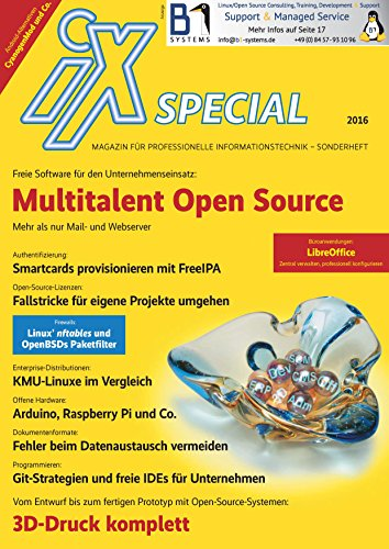 iX Special 2016 – Open Source im Unternehmen: Freie Software für den Unternehmenseinsatz