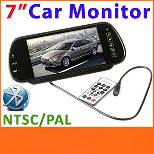 17,78 cm Bluetooth USB SD MP5 Color de espejo retrovisor Monitor LCD TFT de mando a distancia
