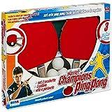 Ronchi, 10551 Set Ping Pong da Tavolo Racchette + Rete + 3 Palline Unisex Bambino, Multicolor, l
