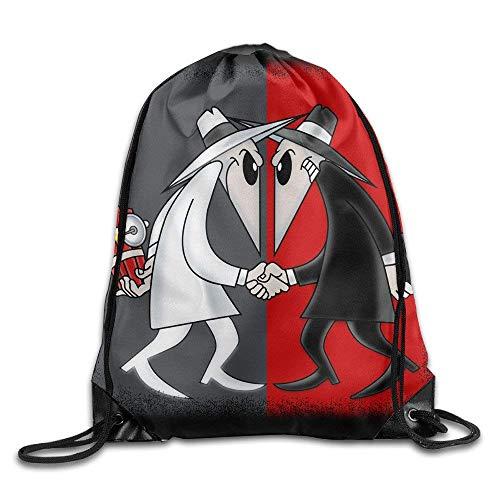 Unbekannt DoDoUp Rucksack mit Kordelzug Drawstring Backpack Sack Bag Spy VS Spy Wordless Comic Home Travel Sport Storage Hiking Running Bags