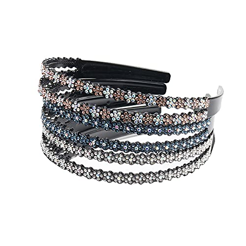 3 Stücke Strass Haarband, Haarreifen Damen, Zahn Haarband, Buntes Kristall Strass Stirnband, Für Kristallstirnbänder für Frauen, Rutschfeste Zahnstirnbänder für Frauen,...